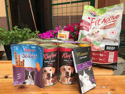 Nyári állatvédő tábor résztvevőinek adományai